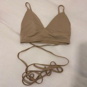 Tan Nude Stringy Bikini Top
